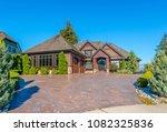 big custom made luxury house... | Shutterstock . vector #1082325836