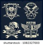 vector set of classic... | Shutterstock .eps vector #1082327003