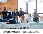 young diverse business people... | Shutterstock . vector #1082332343