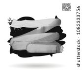 grey  brush stroke and texture. ...   Shutterstock .eps vector #1082333756