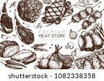 vector design with hand drawn... | Shutterstock .eps vector #1082338358
