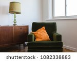 retro living room furniture of... | Shutterstock . vector #1082338883