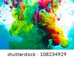 inks in water  colorful... | Shutterstock . vector #108234929