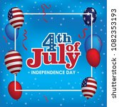 happy 4th of july. usa... | Shutterstock .eps vector #1082353193