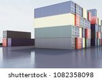 abstract colorful cargo... | Shutterstock . vector #1082358098