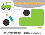 locomotive in cartoon style ...   Shutterstock .eps vector #1082366330