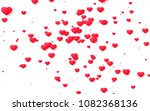 red and pink heart. valentine's ... | Shutterstock . vector #1082368136