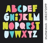 colourful alphabet for your... | Shutterstock .eps vector #1082372099