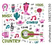set of symbols and lettering on ... | Shutterstock .eps vector #1082372150
