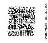 dental care poster. hand drawn... | Shutterstock .eps vector #1082372156