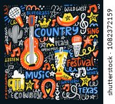 Country Music Illustration Set...