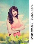 portrait of beautiful woman...   Shutterstock . vector #108237278