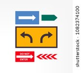 road signs isolated on... | Shutterstock .eps vector #1082374100