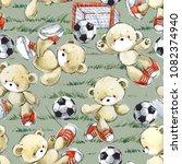 cute teddy bear play in... | Shutterstock . vector #1082374940