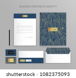 corporate identity business set.... | Shutterstock .eps vector #1082375093