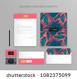 corporate identity business set.... | Shutterstock .eps vector #1082375099