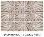 set of retro pattern a vintage...   Shutterstock .eps vector #1082377490