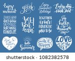 vector set of hand lettering...   Shutterstock .eps vector #1082382578