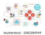 cryptocurrency financial... | Shutterstock .eps vector #1082384549