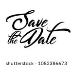 save the date word text art... | Shutterstock .eps vector #1082386673