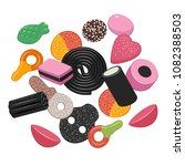 colorful sweet candies | Shutterstock .eps vector #1082388503
