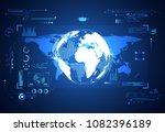 abstract technology ui... | Shutterstock .eps vector #1082396189