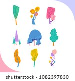 group of decorative fantastic... | Shutterstock .eps vector #1082397830
