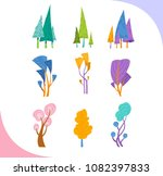 collection of simple... | Shutterstock .eps vector #1082397833
