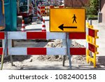 footpath reconstruction with... | Shutterstock . vector #1082400158