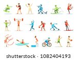 adult people practicing... | Shutterstock .eps vector #1082404193