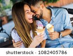 happy couple having date and... | Shutterstock . vector #1082405786