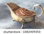 vintage gravy boat with... | Shutterstock . vector #1082409353