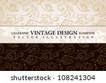 vector vintage wallpaper. gift... | Shutterstock .eps vector #108241304