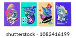 vector colorful summer tropical ... | Shutterstock .eps vector #1082416199