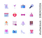 set of wedding icons in flat... | Shutterstock .eps vector #1082421026