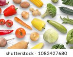 colorful vegetables composition ... | Shutterstock . vector #1082427680