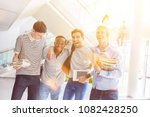 men in laughing group of... | Shutterstock . vector #1082428250