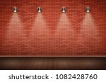 interior of red brick wall with ... | Shutterstock .eps vector #1082428760