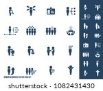 human resources vector icon set | Shutterstock .eps vector #1082431430