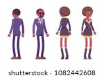 secret agent black man and...   Shutterstock .eps vector #1082442608