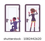 secret agent black man and...   Shutterstock .eps vector #1082442620