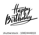 happy birthday typography with... | Shutterstock . vector #1082444810