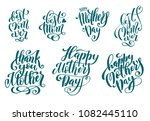 big set for happy mothers day... | Shutterstock . vector #1082445110