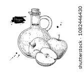 apple vinegar vector drawing. ... | Shutterstock .eps vector #1082446430