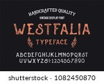 original handmade alphabet.... | Shutterstock .eps vector #1082450870