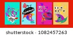 vector colorful summer tropical ...   Shutterstock .eps vector #1082457263