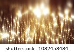 abstract gold bokeh circles on... | Shutterstock . vector #1082458484