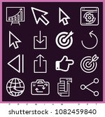 set of 16 arrow outline icons... | Shutterstock .eps vector #1082459840