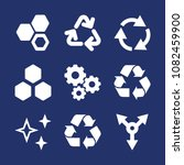 set of 9 three filled icons...   Shutterstock .eps vector #1082459900
