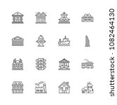 buildings icons. professional ... | Shutterstock .eps vector #1082464130